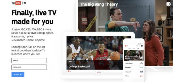 Google, YouTube TV hizmetiyle canlı yayınlara başlıyor