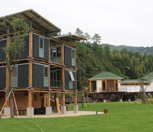 Yeraltı sularını soğutma için kullanan harika bambu ev