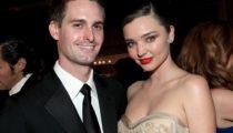 Snapchat'in CEO'su Evan Spiegel ve süpermodel Miranda Kerr evlendi