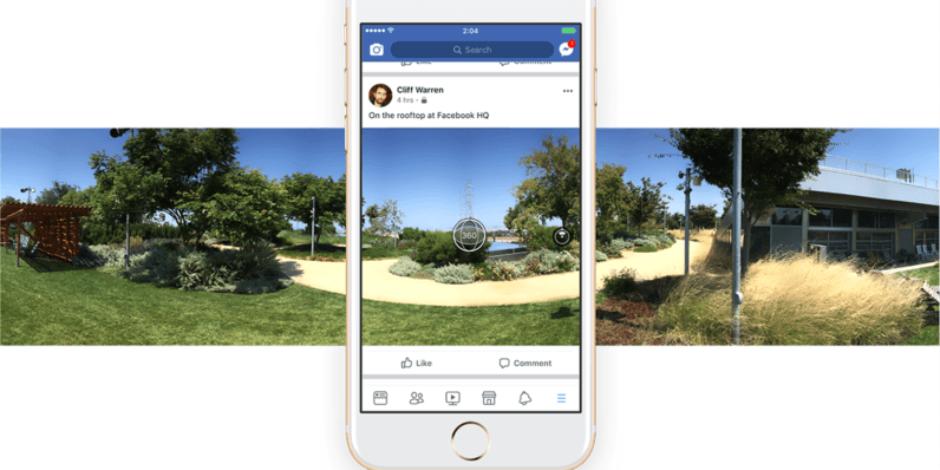 Facebook mobil uygulamasından 360 derece fotoğraf çekilebilecek