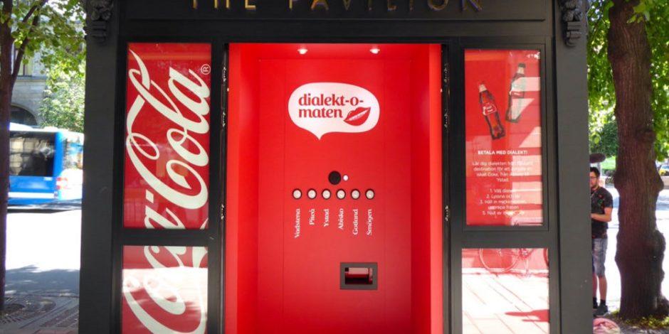 Coca-Cola otomatı para yerine şive kabul ediyor