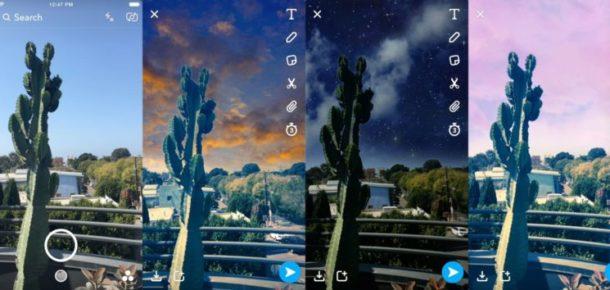 """Snapchat 6. yıldönümünü """"Gökyüzü Filtreleri"""" ve 3D Bitmoji lensleri ile kutluyor"""