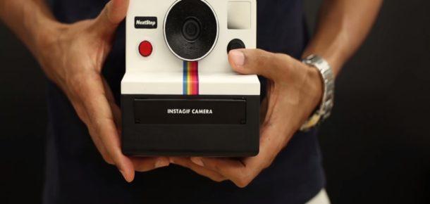 Bu Polaroid fotoğraf makinesi, hareket eden fotoğraf çekiyor