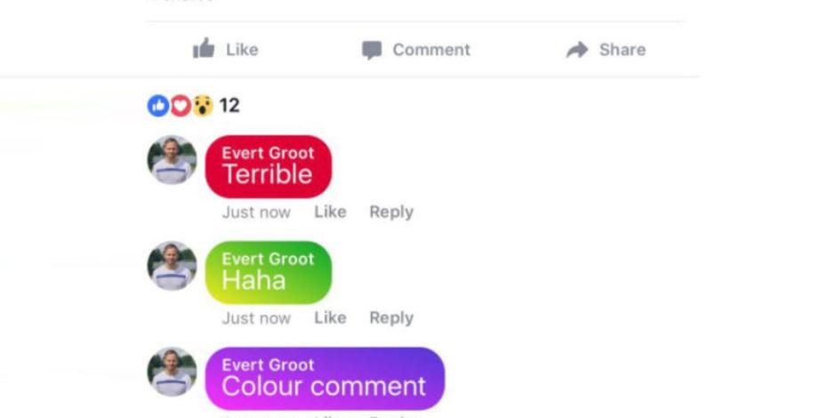 Facebook renkli yorumları test ediyor ve sonuç hiç iç açıcı değil
