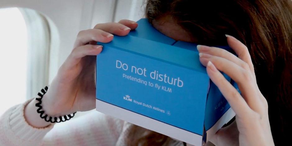 KLM ile uçuyormuşsunuz gibi hissetmenizi sağlayan sanal gerçeklik gözlükleri: KLM Flight Upgrader