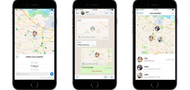 WhatsApp, canlı konum paylaşma özelliğini devreye aldı