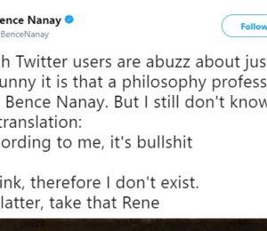 Twitter takipçilerinin aklını yitirmesine sebep olan muhteşem tesadüf: Bence Nanay
